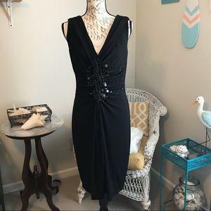 Calvin Klein Beaded Cocktail Dress